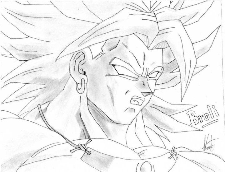 Colorear Dragones Dragon Ball Z Para Dibujos Para Colorear: Broly - Dragon Ball Z