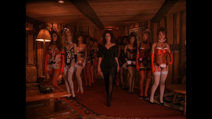 David Lynch - Twin Towers. The Madame and her girls: Jack Lady, Black Lodges, Jack Costume, Eyes Jack, Girls Generation, Twin Peaks, Jack Girls, Jack Twinpeak, Twinpeak Davidlynch