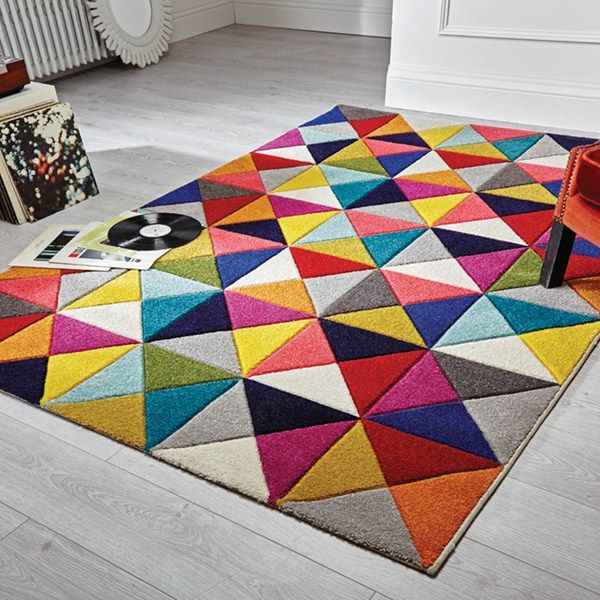 Spectrum Samba Multicoloured Rugs - Free UK Delivery - The Rug Seller
