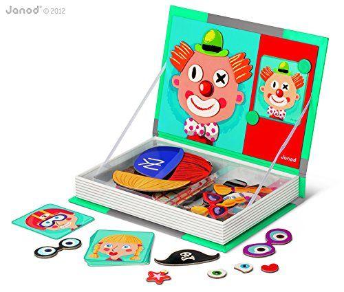 Janod - 4505545 - Livre magnétique - Crazy face - Multicolore