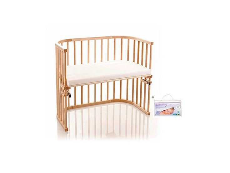 NSAuk Maxi Babybay with Foam Bamboo Mattress and Fitted Sheet - Varnished Beech