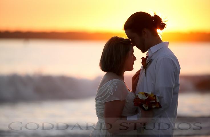 A beautiful November sunset wedding in Corona Del Mar, California