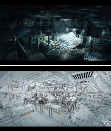 Discover this amazing and huge collection of Concept Art from Alien Isolation…