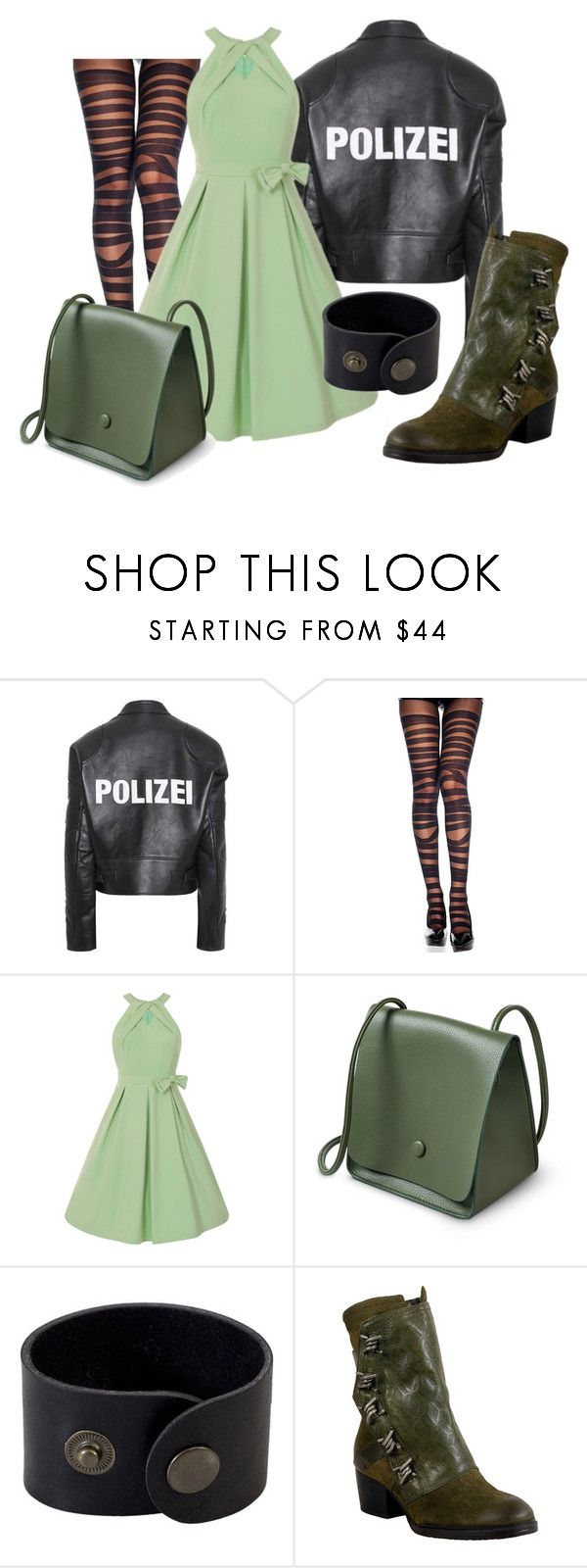 """Green"" by grahamzn on Polyvore featuring Vetements and Miz Mooz"