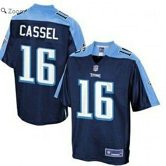 Tennessee Titans Matt Cassel Pro Line Navy Player Jersey