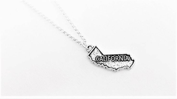 California necklace California state necklace California charm California pendant California map necklace California outline no matter where by RobertaValle on Etsy