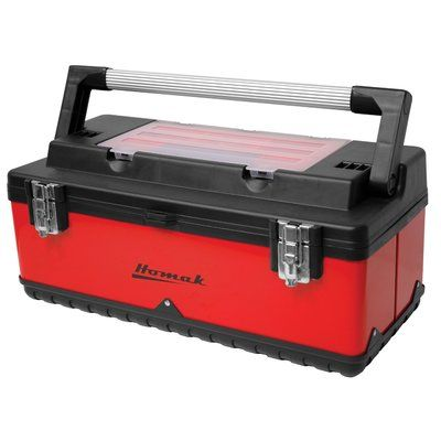 "Homak Metal and Plastic Hand-Carry 22.5"" Tool Box"