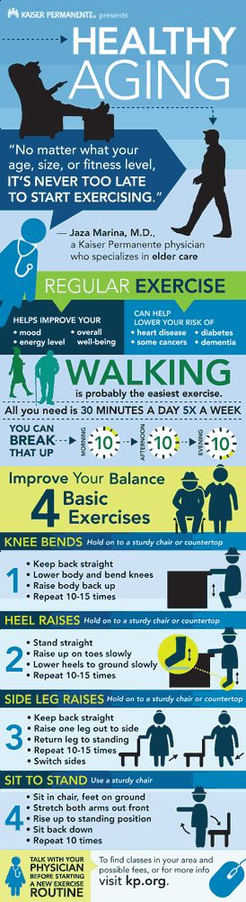 As you grow older, being physically active is one of the most important things you can do to stay healthy.