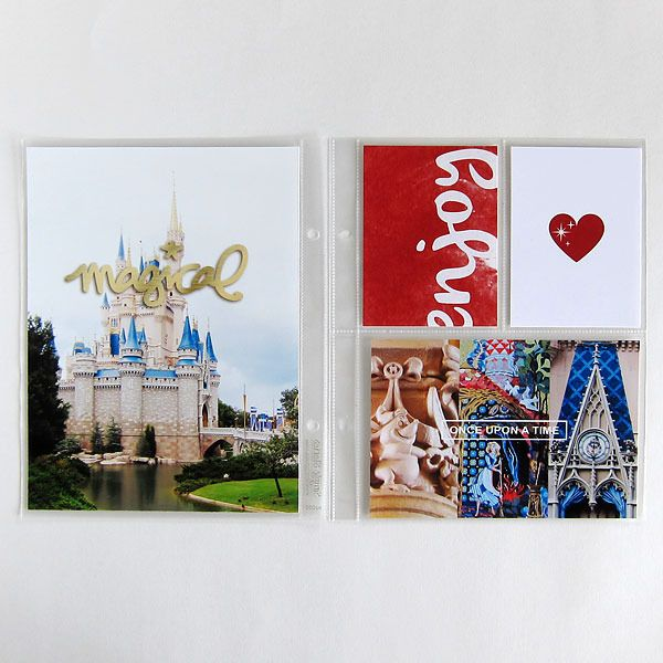 Magical Disney Project Life pocket scrapbooking page by MelanieB using Project Mouse Basics (No.2) by Britt-ish Designs & Sahlin Studio