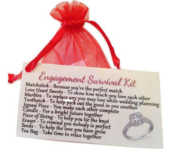 Unique Novelty Survival Kit: Engagement Novelty Survival Kit. By LittleTreasureBags On