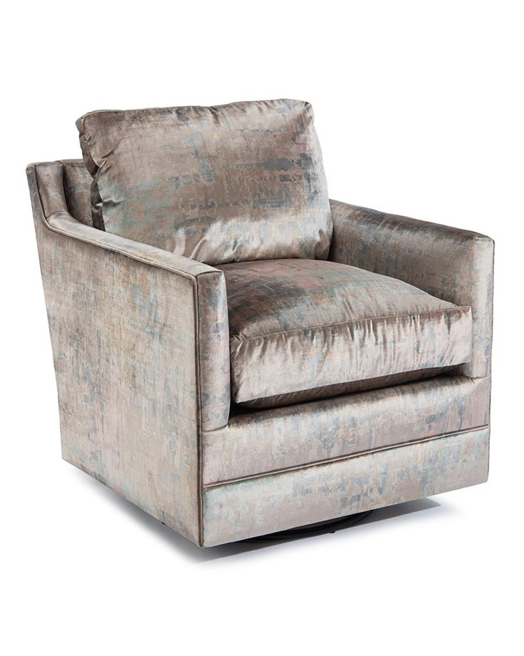 Low-Back Luxury-Arm Swivel Glider Chair - Fully Upholstered - New Introductions - Our Products