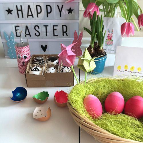 Eier färben mit Nagellack? Stylische SW- Ostereier? Minion Eier, Origami Blüten? Einfache und kreative DIY - Frühlings- und Oster-Baselideen findet ihr hier!