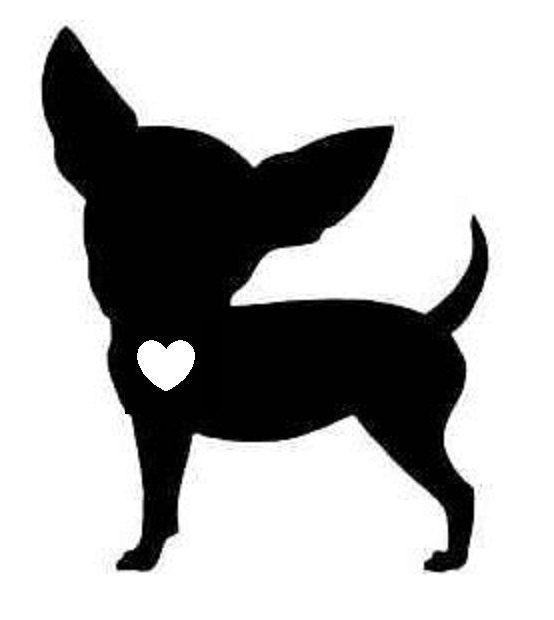 Amo a su pegatina de vinilo de Chihuahua por AllotropeOfCarbon