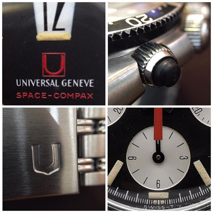 What shall we say... Sometimes an image speaks louder than words... In love with those two tiny #lume dots at 6 o'clock. #universalgeneve #spacecompax  #bigtwelve #earlygeneration #gayfreres #gayfreresbracelet #anciennewatches #ancienneselection #universal #vintageuniversal #vintagechronograph #vintagewatches #flawless #watcheswithpatina #patina #diver