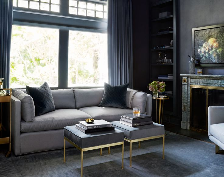 Plum Furniture and McGill Design creates a sumptuous living space with just the right mix of masculine and glam.