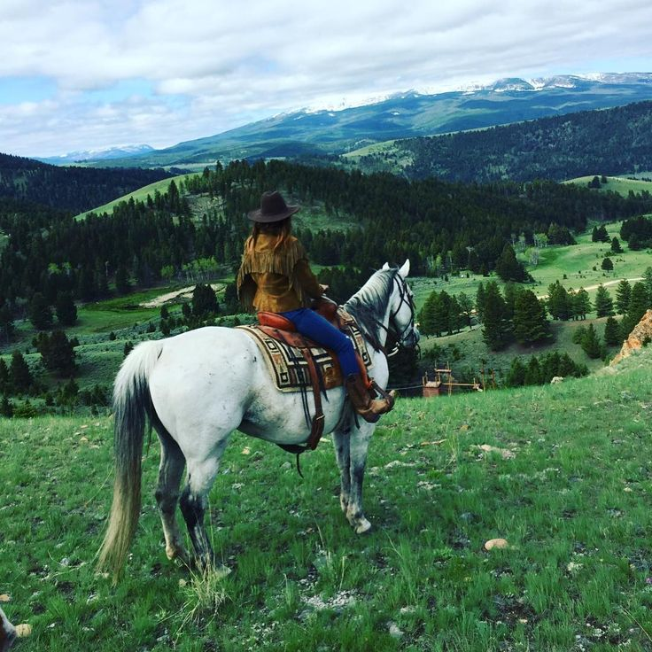 """Heaven on earth on a horse in Montana"" 