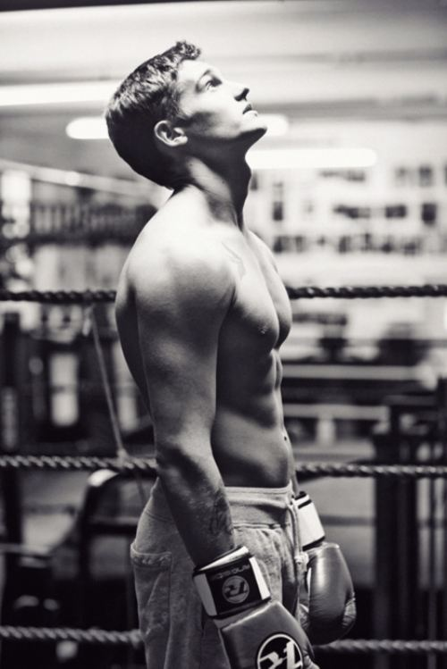 Some hot guy in a boxing ring