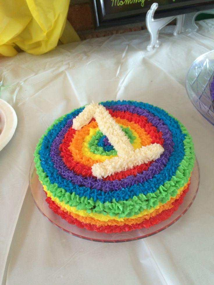 Rainbow Smash Cake 1st Birthday