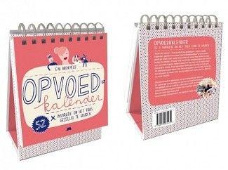 Opvoedkalender, bedoeld om daar waar het goed gaat nog net wat meer plezier en gezelligheid te brengen en je wat gemakkelijker door die ene dag heen ...