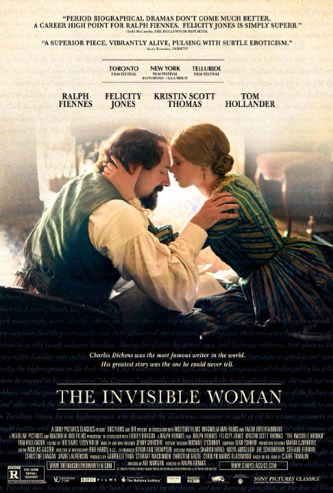 The Invisible Woman - the other love in Charles Dickens life. At the height of his career Dickens met and fell in love with a younger woman, who became his secret lover until his death Felicity Jones portrays 'Nelly' referred to in the title.