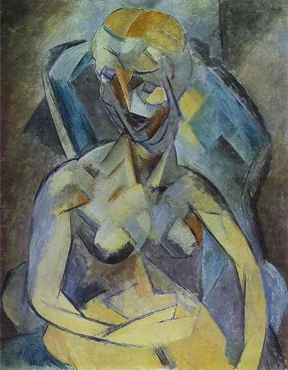 pablo picasso famous paintings   Young Woman. 1909. Oil on canvas. The Hermitage, St. Petersburg ...