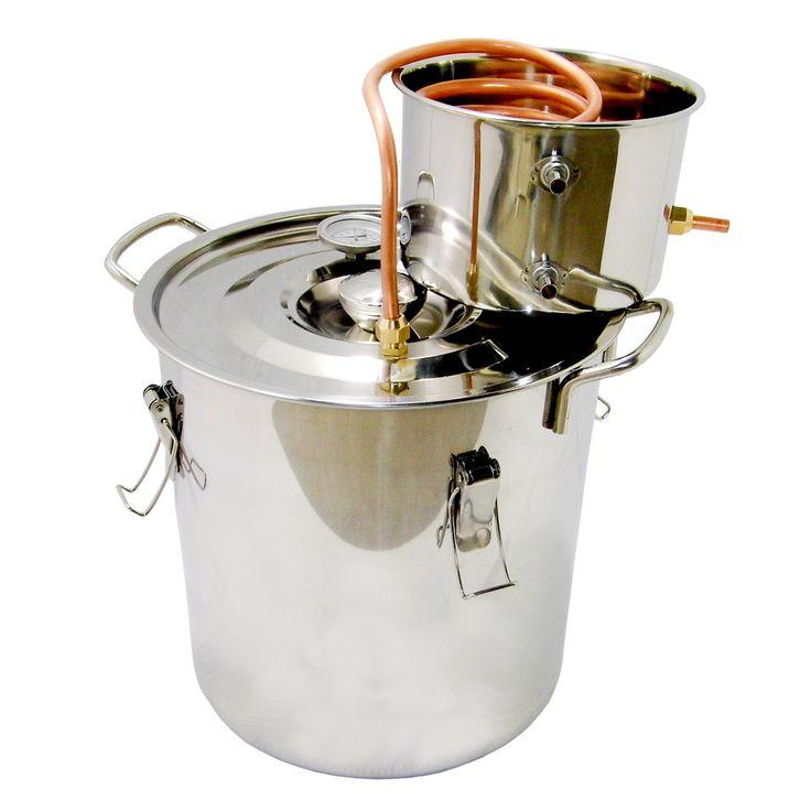 OLizee™ 5 Gallon 18L Water Distiller Wine Alcohol Distiller Stainless Boiler Wine Making Equipment Kit