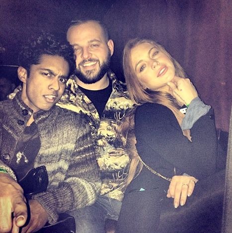 How fetch! Lindsay Lohan reunited with Mean Girls costars Daniel Franzese (Damian) and Rajiv Surendra (Kevin G.)