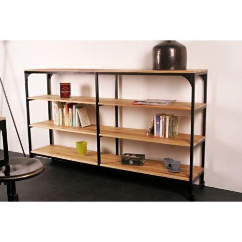 1000 id es sur le th me etagere bois metal sur pinterest. Black Bedroom Furniture Sets. Home Design Ideas