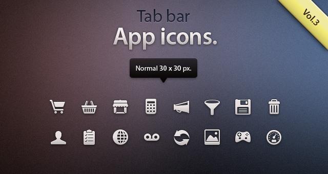 Tab Bar Icons iOS vol3