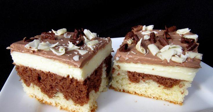 Hrnkový koláč s tvarohovým krémem Rozpis na velký plech rozměru 30 x 40 centimetrů.