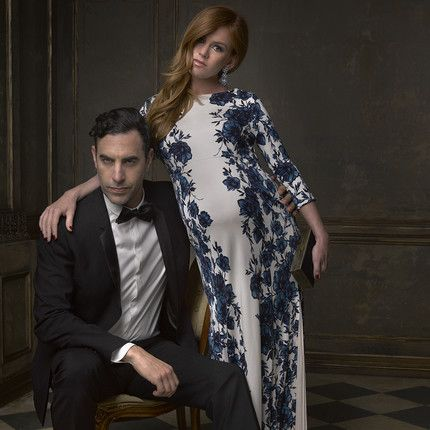 Sacha Baron Cohen and Isla Fisher  - Mark Seliger's Instagram Portraits from the 2015 Oscar Party.