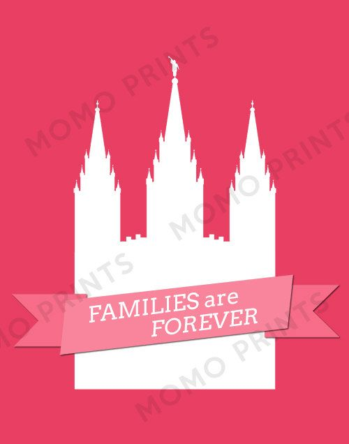 2014 LDS Primary Theme 'Families Are Forever' print by MomoPrints, $8.00