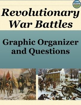 Students get a more in depth look at battles from the Revolutionary War using this chart. They pick 10 of 16 battles to research and in the chart they fill in the battle name, when and where it happened, which side won, and the general historical significance to the battle. They also answer 10 questions of varying levels of difficulty.  This would be great for a sub!  (answers included!)