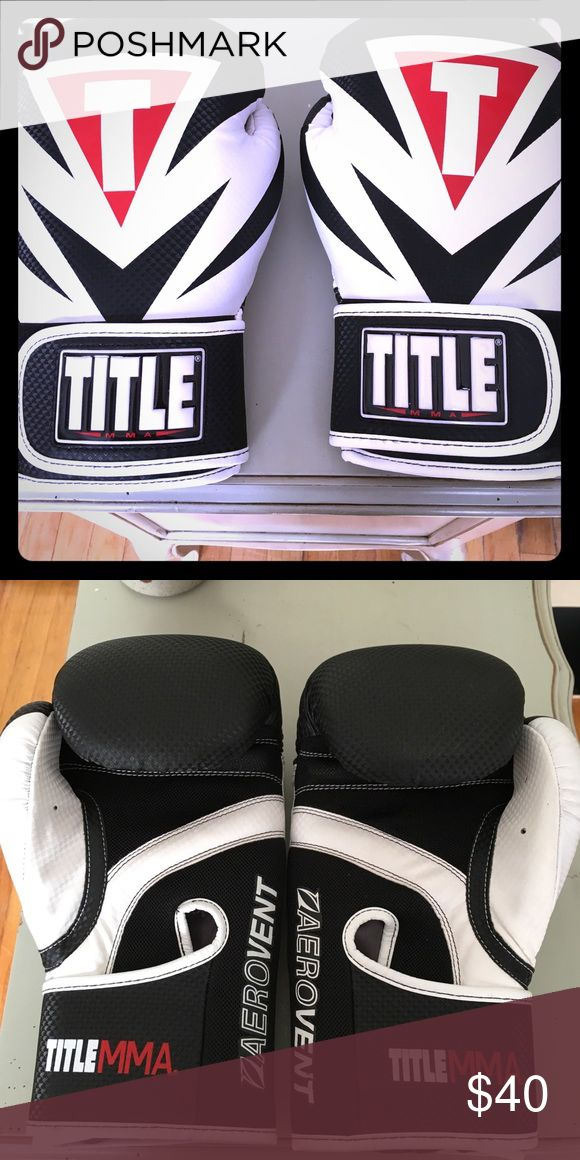 Title MMA Boxing gloves! Used once for a fitness boxing class. Excellent condition! Title Accessories