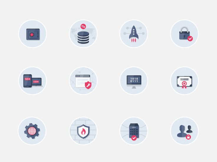 Security Flat Icons Pack by Bota Iusti