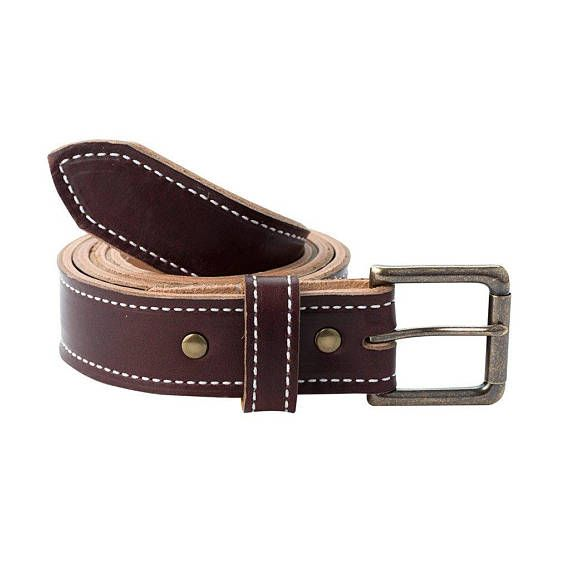 Handmade Leather Belt It's time to let your Jack Foster style branch out from your watch. These beautiful Chromexcel belts are thinner and softer for a more casual feel. Dont let that fool you though, these leathers are tough and durable. Finish it off with either a stainless steel