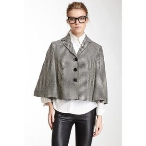 LOVE Moschino Printed Wool Cape