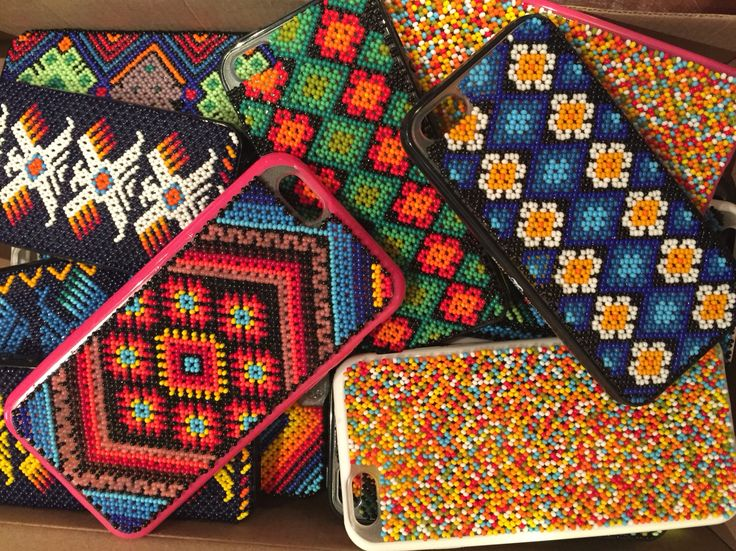 Huichol art Iphone cases   Find different styles at www.mariabonitastore.com  Follow us at @mariabonita_official