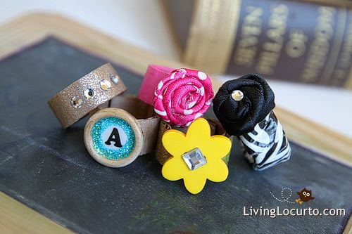 How to Make Duct Tape & Fabric Rings: Duct Tape, Crafts Ideas, Cardboard Rings, Diy Crafts, Tape Rings, Ducks Tape, Fabrics Rings, Diy Rings, Cardboard Crafts