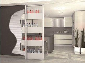 Controtelaio per porta scorrevole con contenitore BIGFOOT® OPENSPACE - PROTEK®