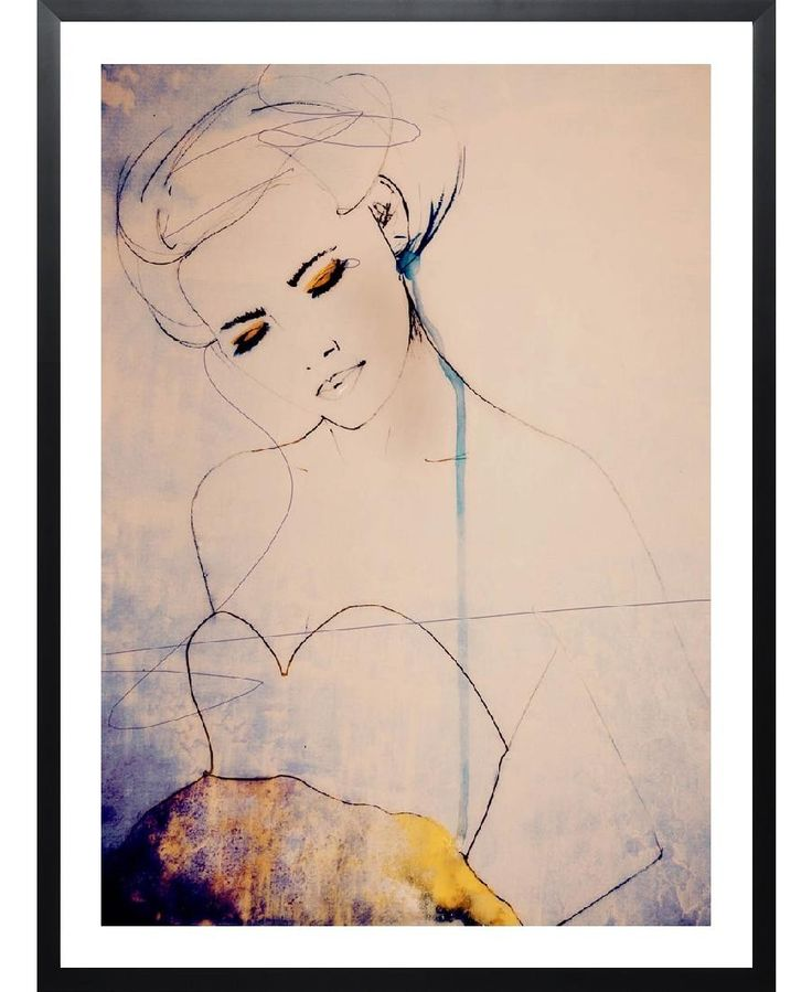 Beautiful woman illustration. Abstractions Aside by Leigh Viner now on Juniqe.com | Art. Everywhere.