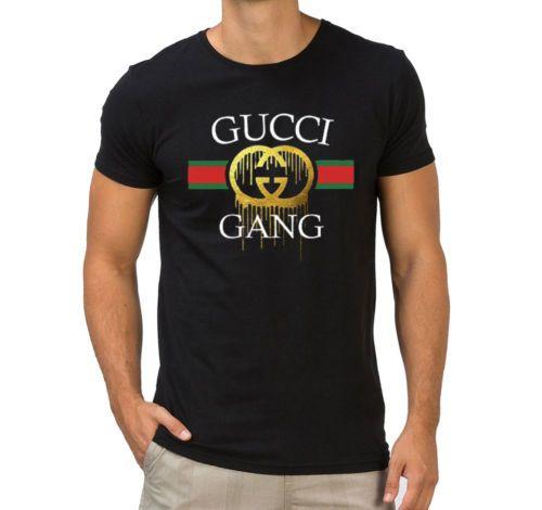 Gucci Gang Lil bomba inspirado Música Camiseta Hip Hop Hombre Niños ... 8c56d3ea018