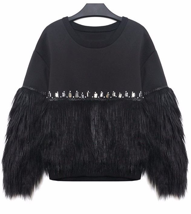 Just In Raye Faux Fur Pul... Shop Now! http://www.shopelettra.com/products/raye-faux-fur-pullover-sweatshirt?utm_campaign=social_autopilot&utm_source=pin&utm_medium=pin