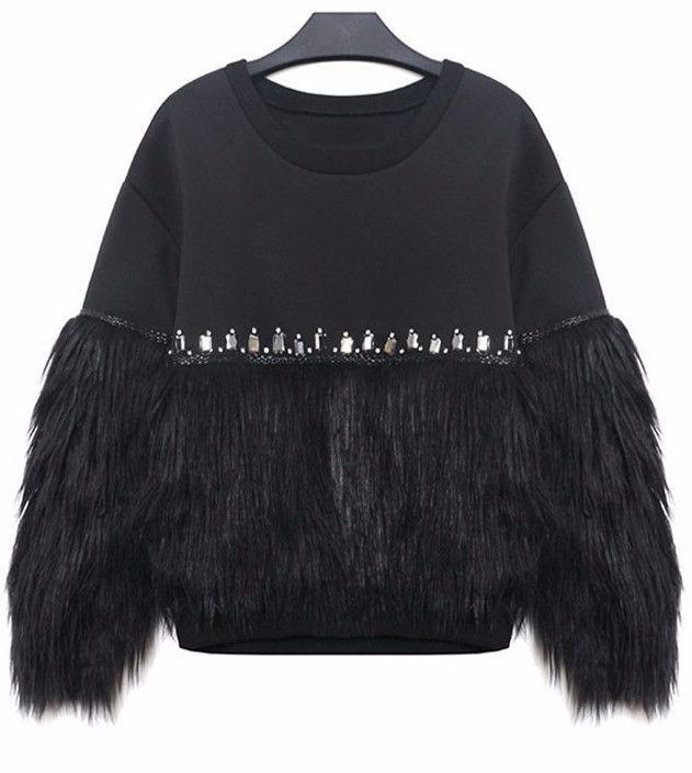Just In Raye Faux Fur Pul... Shop Now! http://www.shopelettra.com/products/raye-faux-fur-pullover-sweatshirt?utm_campaign=social_autopilot&utm_source=pin&utm_medium=pin
