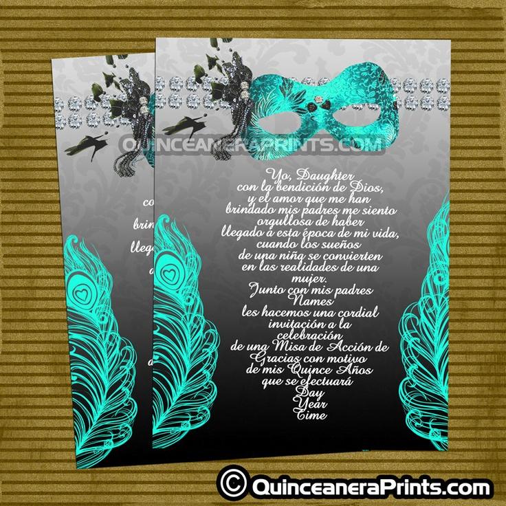 Best 25 Invitations images on Pinterest Quinceanera invitations