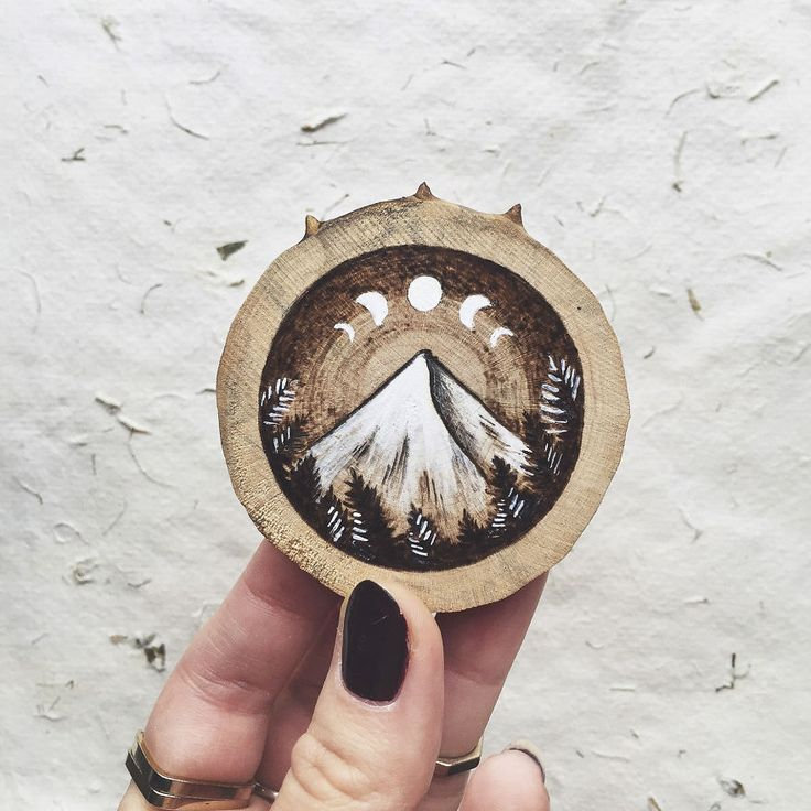I Quit My Boring Office Job To Start Making Mini Paintings On Recycled Wood | Bored Panda
