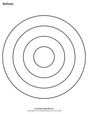 bullseye template printable bullseye printable for the kids pinterest