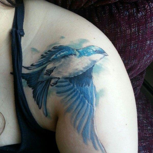 Sweet bird tattoo (5) - bird shoulder tattoo on TattooChief.com