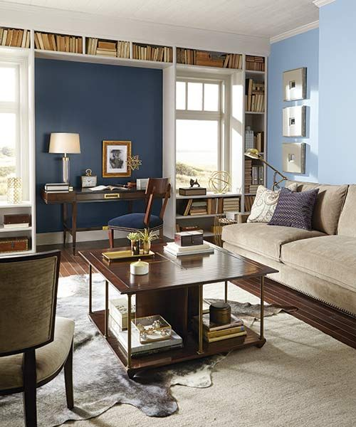 Color Of The Month September 2015 Stormy Weather Blue Paint ColorsWall ColorsSmoke And MirrorsLiving Room