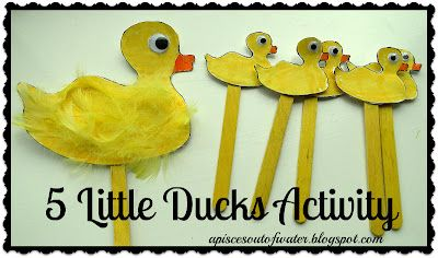 5 Little Ducks Activity to go along with the song.